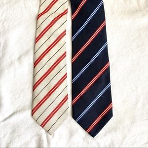 Tommy Hilfiger set of red white & blue ties NWOT